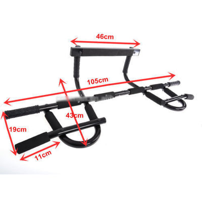 Pull Up Bar Doorway Workout Exercise Chin Push Up Portable Gym Door Mounted HOME