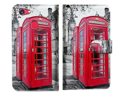 British phone Booth Wallet Case Cover For OPPO R17 -- A025
