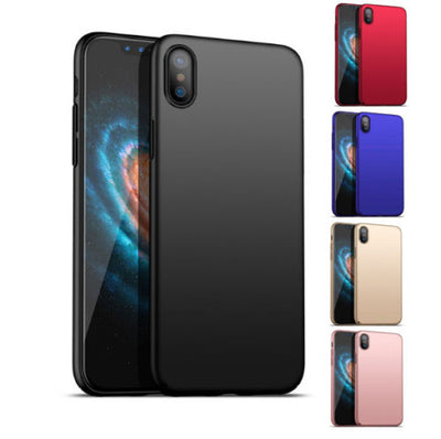 iPhone XS Max XR Case Ultra Thin Fit Slim Hard Shockproof Cover For Apple