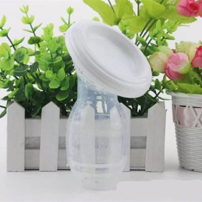 Mom Silicone Manual Breast Pump Baby Breastfeeding Milk Saver Suction Bottle