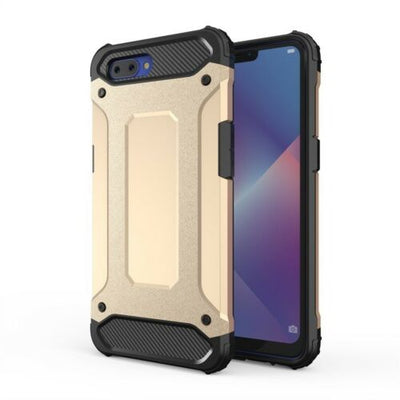 For Oppo A3S Deluxe SHOCK-ABSORBERS Hybrid Dual layer Case TPU Shock Proof Cover
