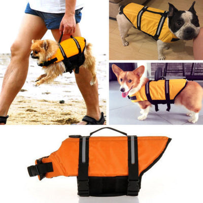 Pet Dog Puppy Life Jacket Mesh Swimwear Vest Safety Flotation Buoyancy Aid New