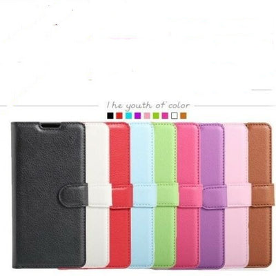 For Huawei Y5 2018 I Y6 2018 PU Leather Wallet Cardholder Case Cover