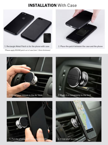 Universal Magnetic Car Holder Mount Air Vent for iPhone Galaxy GPS Samsung