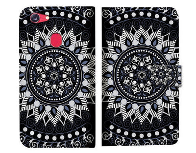 Black AZTEC TRIBAL Wallet TPU Case Cover For OPPO R17 Pro -- A005