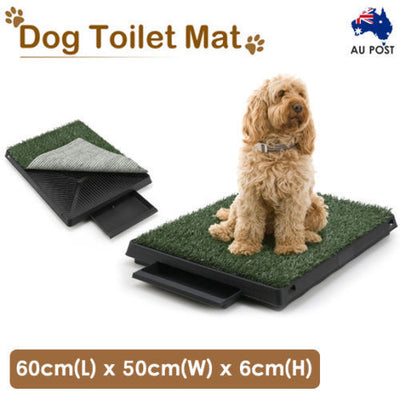 Dog Pet Potty Training Portable Toilet Large Loo Tray 1/2/4 Grass Mat AU