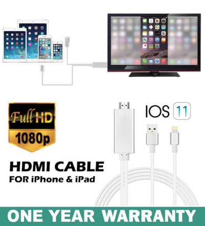 Lightning 8Pin to HDTV HDMI Digital AV Adapter 2M Cable for iPhone iPad iOS11