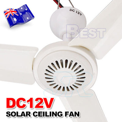 Portable 12V Ceiling Fan 3 Blade 0.7AMP HQ Caravan Camping For Solar Power