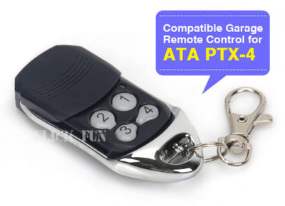 Remote Control Compatible For ATA PTX-4 SecuraCode Garage Door Replacement