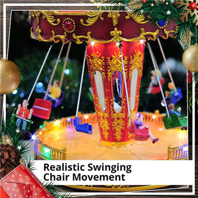 Christmas Gift Music LED Lights Flying Swing Chairs Home Play Toys Decoration