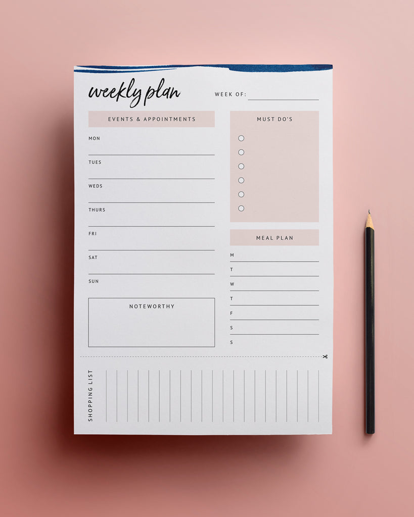 New! Printable Weekly Planner Template