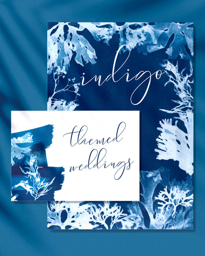 Indigo inspired beach themed wedding