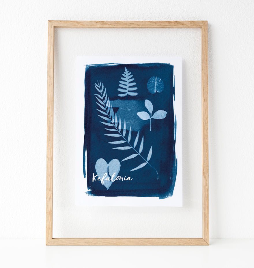 Kefalonia, Greece, plant collection print