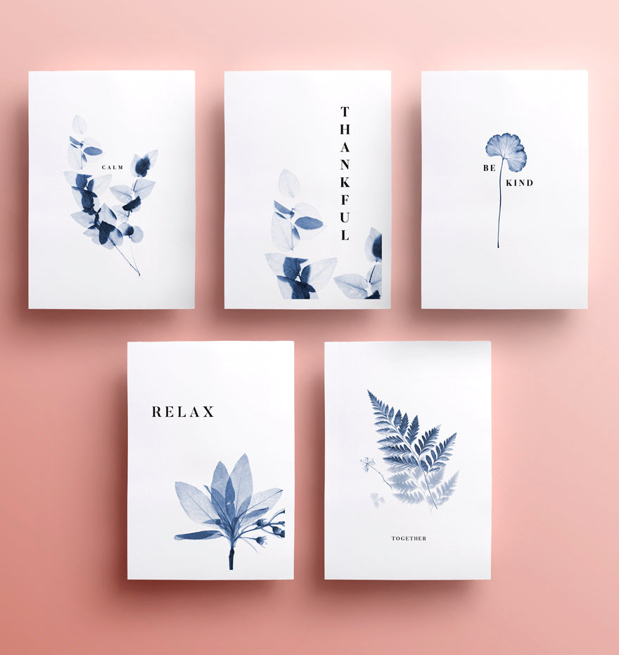 Set of 5 Inspirational Type Posters