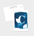 Letter C Botanical Cyanotype Postcard