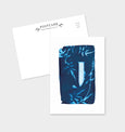 Letter J Botanical Cyanotype Postcard