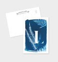 Letter L Botanical Cyanotype Postcard