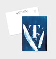 Letter T Botanical Cyanotype Postcard