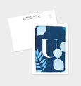 Letter U Botanical Cyanotype Postcard