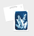 Letter W Botanical Cyanotype Postcard