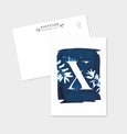 Letter X Botanical Cyanotype Postcard