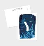 Letter Y Botanical Cyanotype Postcard