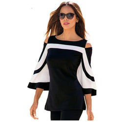 Sleeve Cold Shoulder Top