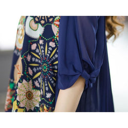 Fashion Casual Tops Loose Printed Chiffon