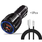 2 USB Car Quick Charger 3.0 2 USB Fast Car Charger for iPhone Samsung