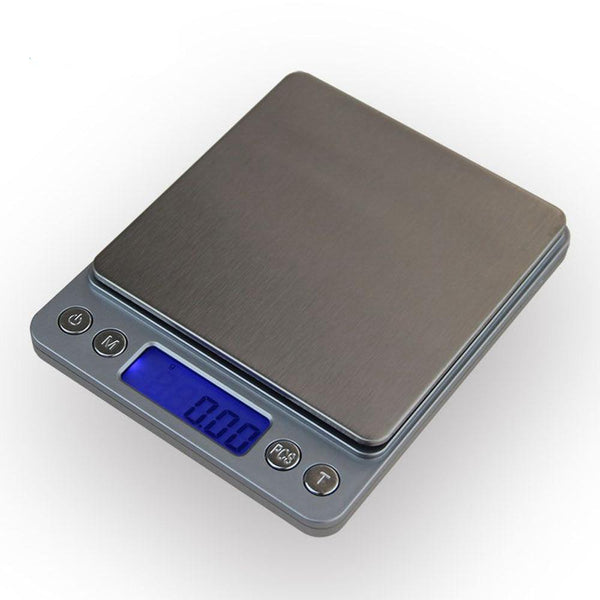500g x 0.01g Portable Mini Electronic Food Scales Kitchen Digital Scale With 2 Tray
