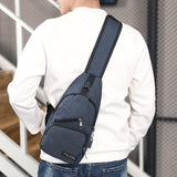 Male Shoulder Bags With USB Charging