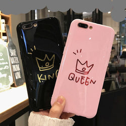 Glossy Crown Phone Case For iPhone
