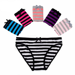 Women Cotton Spandex Briefs Striped