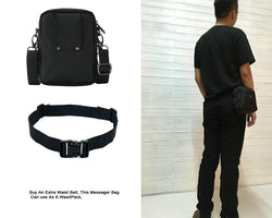 Men's Zipper Bag Messenger Waterproof Bag