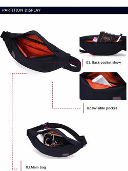 UNISEX Casual Waist Pack Bag