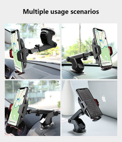 2 In 1 Windshield Mount Car Holder + Air Vent Car Phone Holder