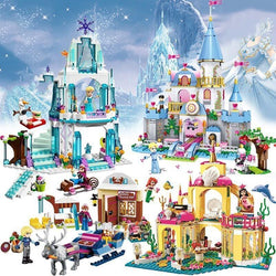 316pcs Princess Serie Elsa Magical Ice Castle Set Educational Building Block
