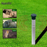 Ultrasonic Animal Repeller Mole,Snakes ,Vole,Gopher Repellent  Pest Control for Home,Garden,Lawn
