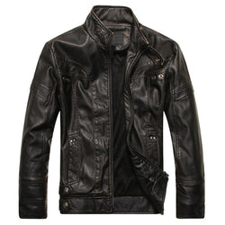 Men's Leather Jackets Motorcycle Autumn Casual