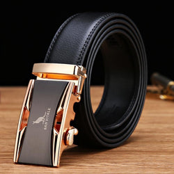 See-Mart.com 100% Genuine Luxury Leather Automatic Buckle