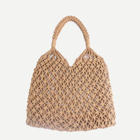 See-Mart.com 35x35CM Fashion Popular Woven Bag Mesh Rope Weaving