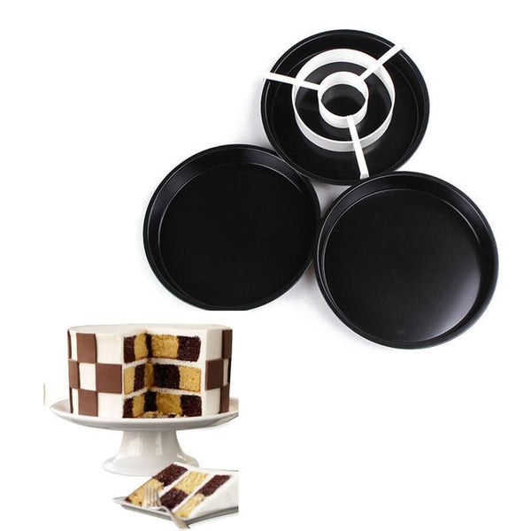 See-Mart.com 4Pcs/Set Checkerboard Cake Pan Mold Divider Tray