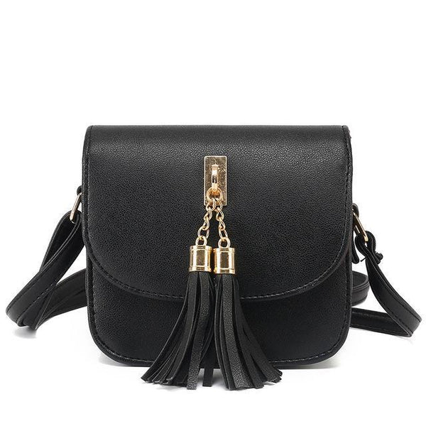 See-Mart.com Black Small Chains Shoulder Bag