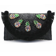 See-Mart.com High quality beach bag straw pineapple summer crossbody bags