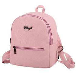See-Mart.com Pink / 20cmx10cmx25cm Soft leather women casual backpacks