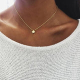 See-Mart.com x51-gold Trendy jewelry copper choker multi layer necklace