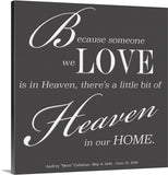 Custom canvas - Because someone we love is in Heaven ...
