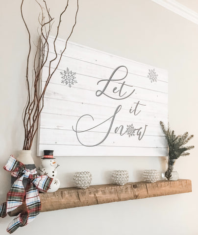 Custom canvas - Let it Snow