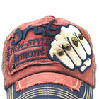 Mens Vogue Adjustable Denim Patch Baseball Cap Outdoor Sunshade Cap