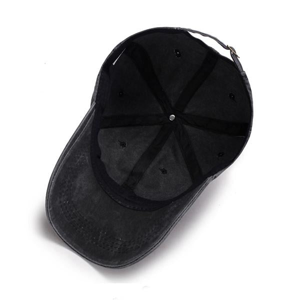 Pure Color Sunshade Sport Summer Hats Washed Cotton Baseball Cap